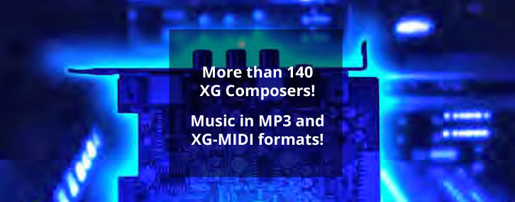 XG Music in MP3 audio and XG Midi formats for download!