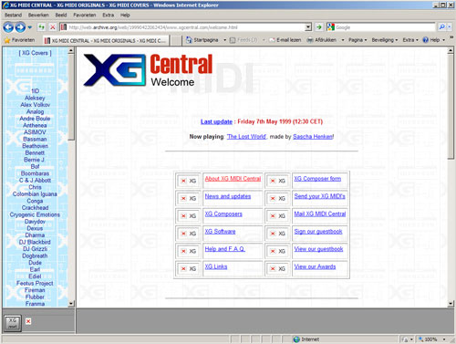 XG-Central design in 1999, made by Cybert